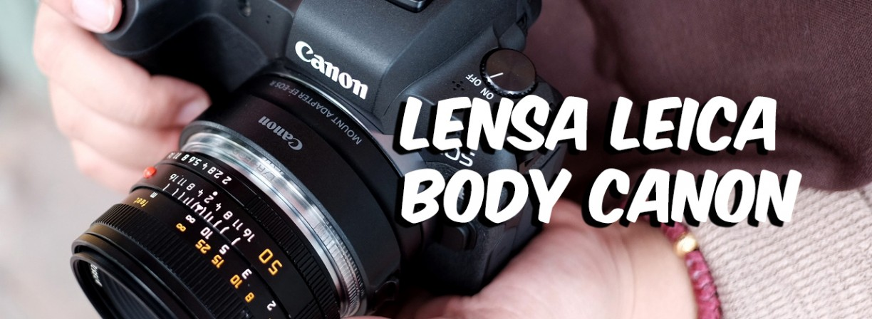 review! Lensa leica R summicron 50mm f/2 di body Canon eos R
